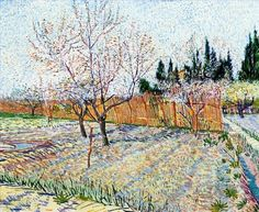 5 Orchard with Peach Trees in Blossom Vincent van Gogh