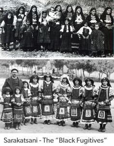 The Sarakatsani people of Northern Greece received this name in the mid-20th century after they dressed in black one night and fled the Pindus and Rodopi mountains to which they were native in an attempt to escape the Ottoman conquerors, who demanded that each family give up one son and one daughter. Greek Costumes, Greece Photography, Across The Border, First Daughter, Corfu, First Night, Athens, Old Photos, Photo Wall
