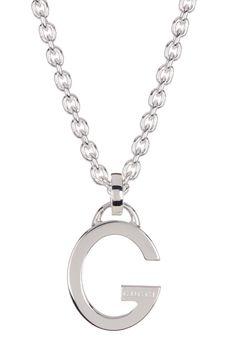 36d1d16c3 Details about Authentic Gucci G Logo Sterling Silver 925 Pendant Chain  Necklace