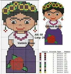 Frida Kahlo x-stitch