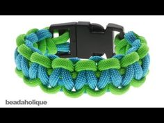 How to Make a Basic Cobra Paracord Bracelet - YouTube Good for how to melt two colors and make two color bracelet