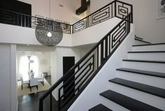 Modern Spaces Wrought Iron Handrail Design, Pictures, Remodel, Decor and Ideas - page 3
