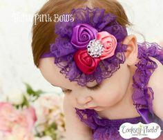 diy silk bows for headbands | Lace Headband,satin headband, baby headbands,vintage inspired headband ...