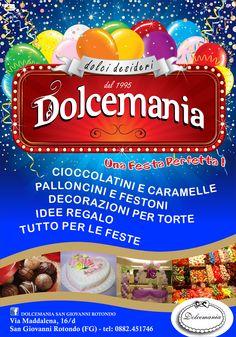 #palloncini #negozio #specializzato #articoli #feste #puglia #gargano #sangiovannirotondo #foggia #torte #cioccolatini #caramelle #decorazioni #dolcemania