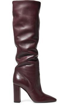 0b47bf28ecc8 Saint Laurent - Lou leather knee boots