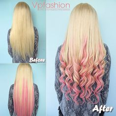 pink blonde ombre wavy hair styles with pink ombre hair extensions