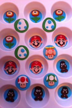 Cupcake toppers Mario