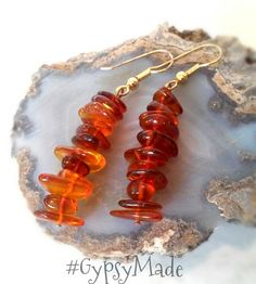 Baltic Amber Gypsy Dangle Earrings