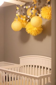 Baby Shower Ideas - Yellow and Gray Baby Shower | Pear Salad a blog by Pear Tree Greetings