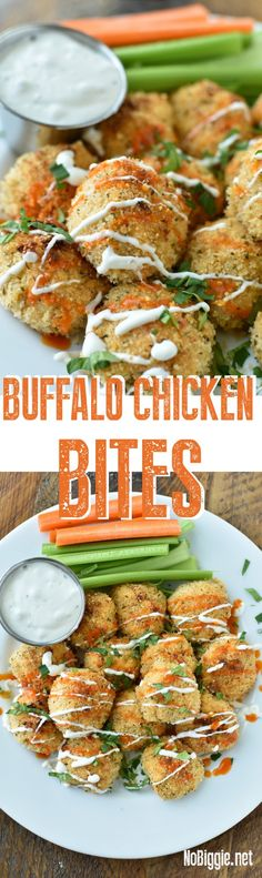 Buffalo Chicken Bites - They are sure to please the crowd. via : Buffalo Chicken Bites - They are sure to please the crowd. Buffalo Chicken Bites, Buffalo Chicken Recipes, Appetizers For Party, Appetizer Recipes, Slow Cooker Recipes, Cooking Recipes, Mini Hamburgers, Chicken Flavors, Game Day Food