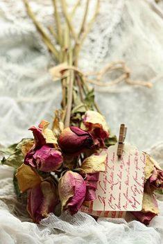 ramo de rosas secas