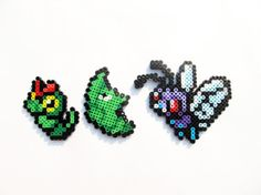 010 Caterpie / 011 Metapod / 012 Butterfree