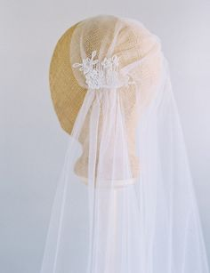 Lace Veil Juliet Cap Veil 1920s Veil Downton Abbey by VeiledBeauty