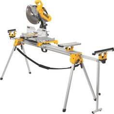 The DEWALT Heavy-Duty Miter Saw Stand offers large-capacity material support without sacrificing portability, so you can make quick, accurate cuts with ease. This stand features a universal design that works with a wide variety of saws. Its lightweight a