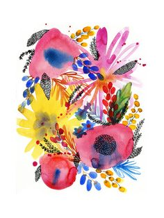 Flowers Art Print - Limited Edition by Alexandra Dzh | Minted