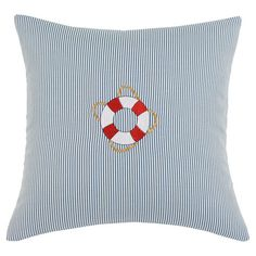 Found it at Wayfair - Oxford Sailor Throw Pillow in Blue