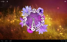 Flower Clock Live Wallpaper for Android app free download images4
