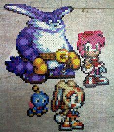 sandylandya@outlook.es  Team Rose Sonic perler beads by TomatoisJPhansburg