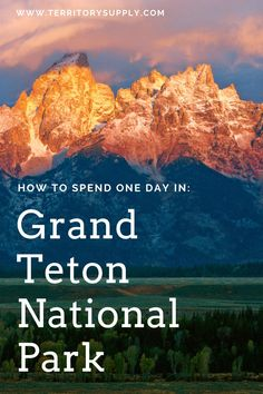 Here's what to do if you only have one day in Grand Teton National Park, from the lakes and trails and wildlife to the awesome town of Jackson. Grand Teton National Park, National Parks, Travel Photos, Travel Tips, Travel And Leisure, All Over The World, Wyoming, Cool Photos, Things To Do