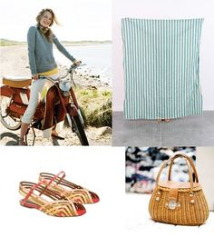 My perfect picnic means serving simple, wholesome food to my very favorite people. I'd wear something comfortable, breezy and casual. Picnic Attire, Jo Guest, Cup Of Jo, Nantucket, Bucket Bag, Chic, My Style, Party, People