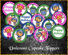 Team Umizoomi Cupcake Toppers Cupcake Toppers, Etsy Store, Your Design, Card Stock, Vibrant Colors, Banner, Happy Birthday, Banner Stands, Happy Brithday
