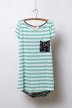 stripes and birds tee from anthropologie - could take off the back of a cheapo shirt and put a diff shear material on it