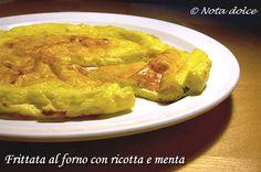 Frittata al forno con ricotta e menta, ricetta secondi piatti