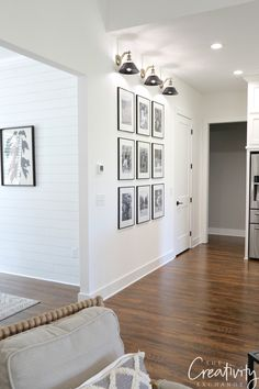 Step by step tricks and shortcuts for creating the easiest gallery wall you could ever do with frames and family photographs. wall The Easiest Gallery Wall You Could Ever Do Decor, House, Perfect Paint Color, Interior, Gallery Wall, New Homes, Home Decor, Creative Home, Great Rooms