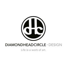 """We created the logo to appear to be a hand-stamped mark, with the d, h and c coming together to form a one-of-kind monogram. The logotype below the circle was crafted with an original texture inspired by the islands. The result is a refined identity intended to invoke beauty, balance and tranquility. Zookeeper also created the tagline for Diamond Head Circle Design, """"Life is a work of art."""""""