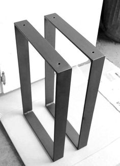 Metal Table Legs X Flat Bar Hand Forged Iron Blacksm.- Metal Table Legs X Flat Bar Hand Forged Iron Blacksmith Made Modern Industrial Style Chair Table Metal Steel Bracket Legs by VinTin - Mesa Metal, Wood And Metal, Black Metal, Solid Black, Modern Industrial, Industrial Furniture, Industrial Office, Vintage Industrial, Industrial Design