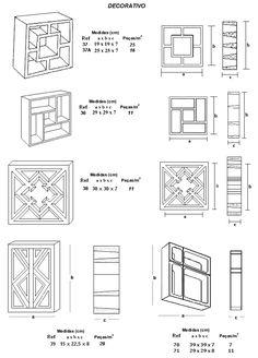 Elementos vazado de concreto bloco vazado DECORATIVO (Cobogó de concreto decorativo)