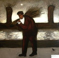 John Caple - Withy Man, Somerset Levels - Mixed media on board x ins x cms) Galleries In London, Abstract Portrait, Naive Art, Stone Carving, Contemporary Artists, Art Forms, Female Art, Folk Art, Somerset Levels