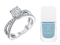 The Perfect Nail Polish Color to Show Off Your Engagement Ring | https://www.theknot.com/content/nail-polish-to-match-your-engagement-ring