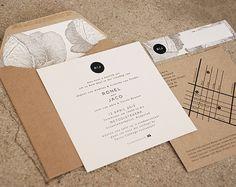 City Wedding invitation by Seven Swans Wedding Stationery