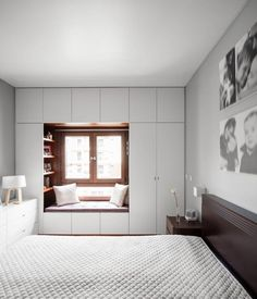 small bedroom design , small bedroom design ideas , minimalist bedroom design for small rooms , how to design a small bedroom Window Seat Design, Wardrobe Design Bedroom, Bedroom Furniture Design, Home Room Design, Bedroom Interior, Home, Small Bedroom Storage, Bedroom Cupboard Designs, Bedroom Storage Ideas For Clothes