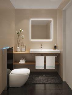 Hotel Krone****, Sarnen Hotel Krone ****, Sarnen from Talsee reference projects Bathroom Closet, Bathroom Interior, Small Bathroom, Master Bathroom, Bathroom Ideas, Guest Toilet, Small Toilet, Decor Interior Design, Interior Decorating
