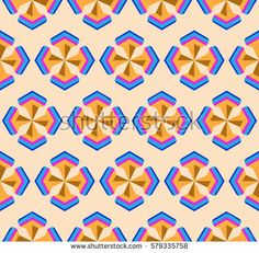 Seamless geometric 3d abstract pattern.Vector background.