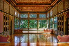 Mustafa Pasha Pavillion at Topkapi Palace, Istanbul. This room was built in the 1750s to give the Sultan of the day a comfy viewing spot for the events in the gardens below. Photo by Michael Morris