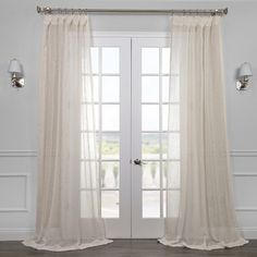 Shop for Exclusive Fabrics Linen Open Weave Cream Sheer Curtain Panel. Free Shipping on orders over $45 at Overstock.com - Your Online Home Decor Outlet Store! Get 5% in rewards with Club O!