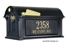Discount Whitehall Balmoral Mailbox and Post Sale Mailbox Monogram, Mounted Mailbox, Marshall Speaker, Toy Chest, Packaging, Outdoor Decor, Stuff To Buy, Yard, Patio