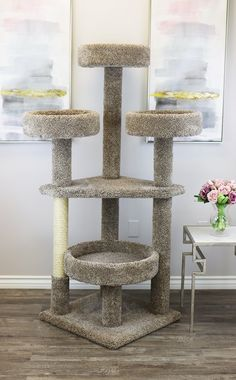 Cat Training Scratching Purrfect for Large Cats and Multiple Cat Households! - Our Maine Coon Cat Tower was designed for Extra Large Cats, Large Cats and households with multiple cats. Cool Cat Trees, Cool Cats, Diy Cat Tower, Homemade Cat Tower, Homemade Dog, Cat Tree Plans, Cat Activity, Cat Towers, Cat Stands