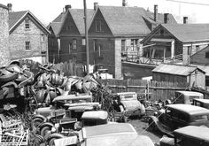 old car salvage yards | 1920s 1930s junk yard find antique cars collector cars 1950s