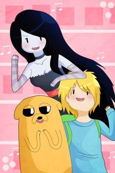 Finn, jake, y Marcy por Gimesama Adventure Time Girls, Adventure Time Characters, Adventure Time Anime, Finn And Marceline, Finn Jake, Fiction, Nerd, Deviantart, Fan