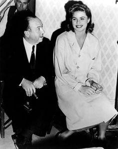 Ingrid Bergman and Alfred Hitchcock
