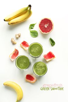 Detoxifying Grapefruit Green Smoothie! Perfect for hitting the reset button on your diet #vegan #glutenfree #healthy