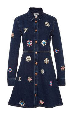 Strassed Denim Dress by Sonia Rykiel for Preorder on Moda Operandi
