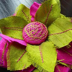 silk flower tutorial - love the colours
