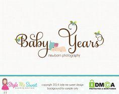 Custom Logo Premade Photography Logo - Newborn Logo Baby Logo Design Hand Drawn Small Business Logo