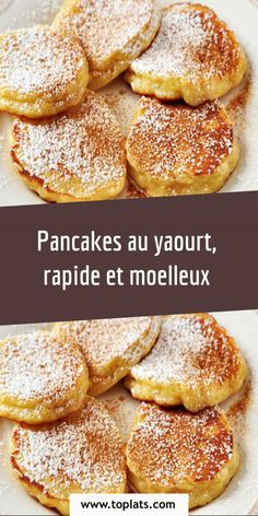 Healthy Breakfast Recipes, Snack Recipes, Dessert Recipes, Cooking Recipes, Snacks, Easy Desserts, Yogurt Pancakes, Savory Pancakes, Pastry Cook