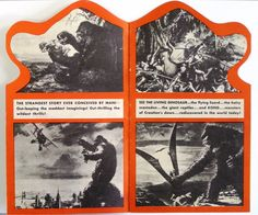 Inside of Herald for The Movie King Kong King Kong 1933, Current Movies, Fay Wray, Merian, Adventure Film, Classic Monsters, Fantasy Monster, Weird Stories, Godzilla